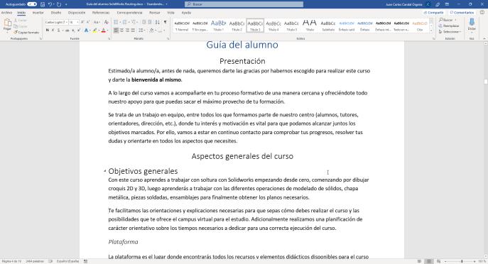 Texto oculto en Word - Instituto Galego de Formación