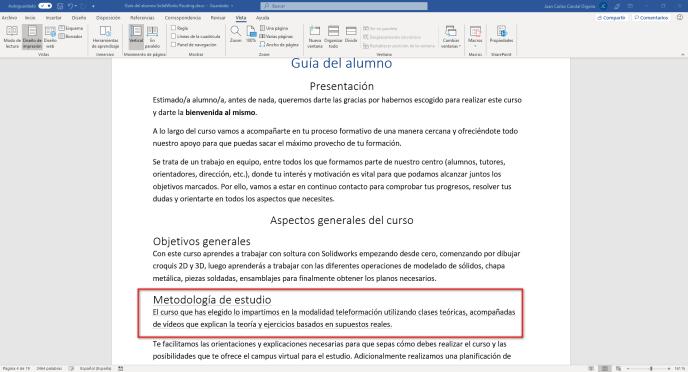 Ver el texto oculto en Word - Instituto Galego de Formación