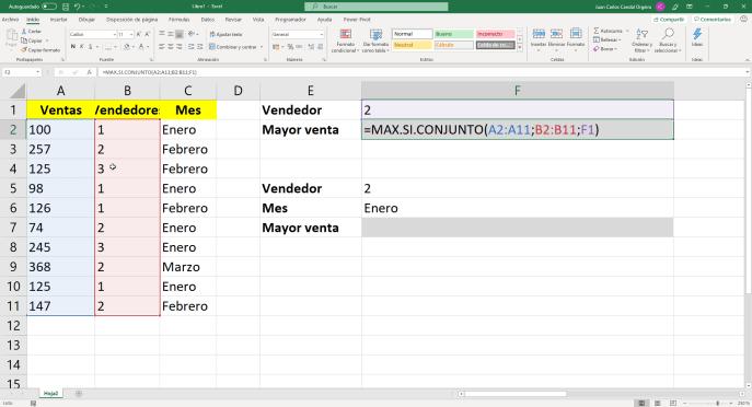 Función MAX.SI.CONJUNTO de Excel - Instituto Galego de Formación