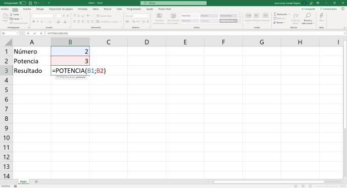 Función POTENCIA de Excel - Instituto Galego de Formación