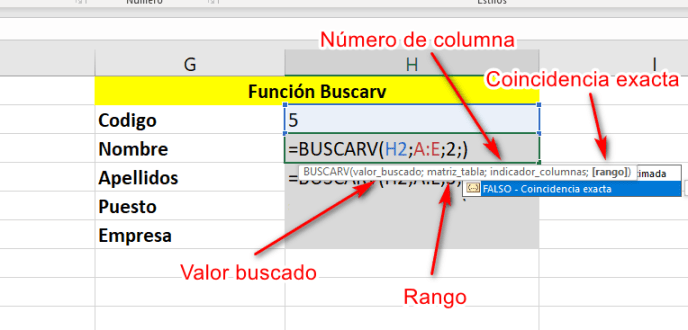 Función buscarv - Instituto Galego de Formación