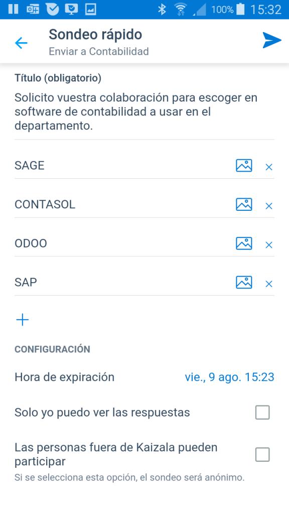 Crear un sondeo rápido con Microsoft Kaizala - Instituto Galego de Formación