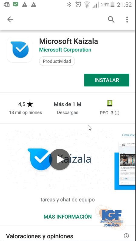 Microsoft Kaizala - Instituto galego de Formación