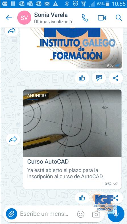 Realizar un anuncio con Microsoft Kaizala 4 - Instituto Galego de Formación