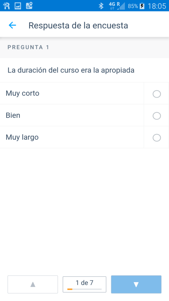 Responder una encuesta en Microsoft Kaizala - Instituto Galego de Formación