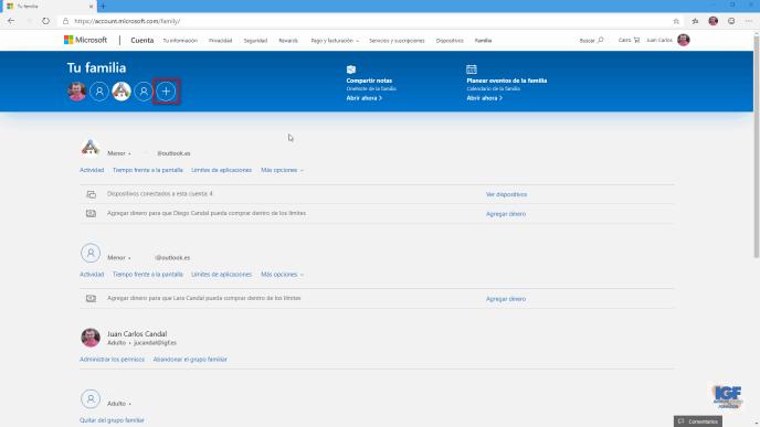 Agregar un miembro de la familia en Windows 10 - igf.es