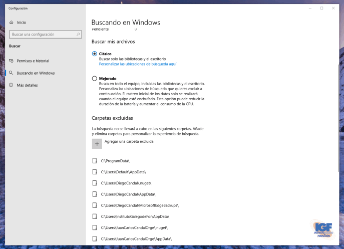 Configuración buscar en Windows 10 con Cortana  en Windows- igf.es.png