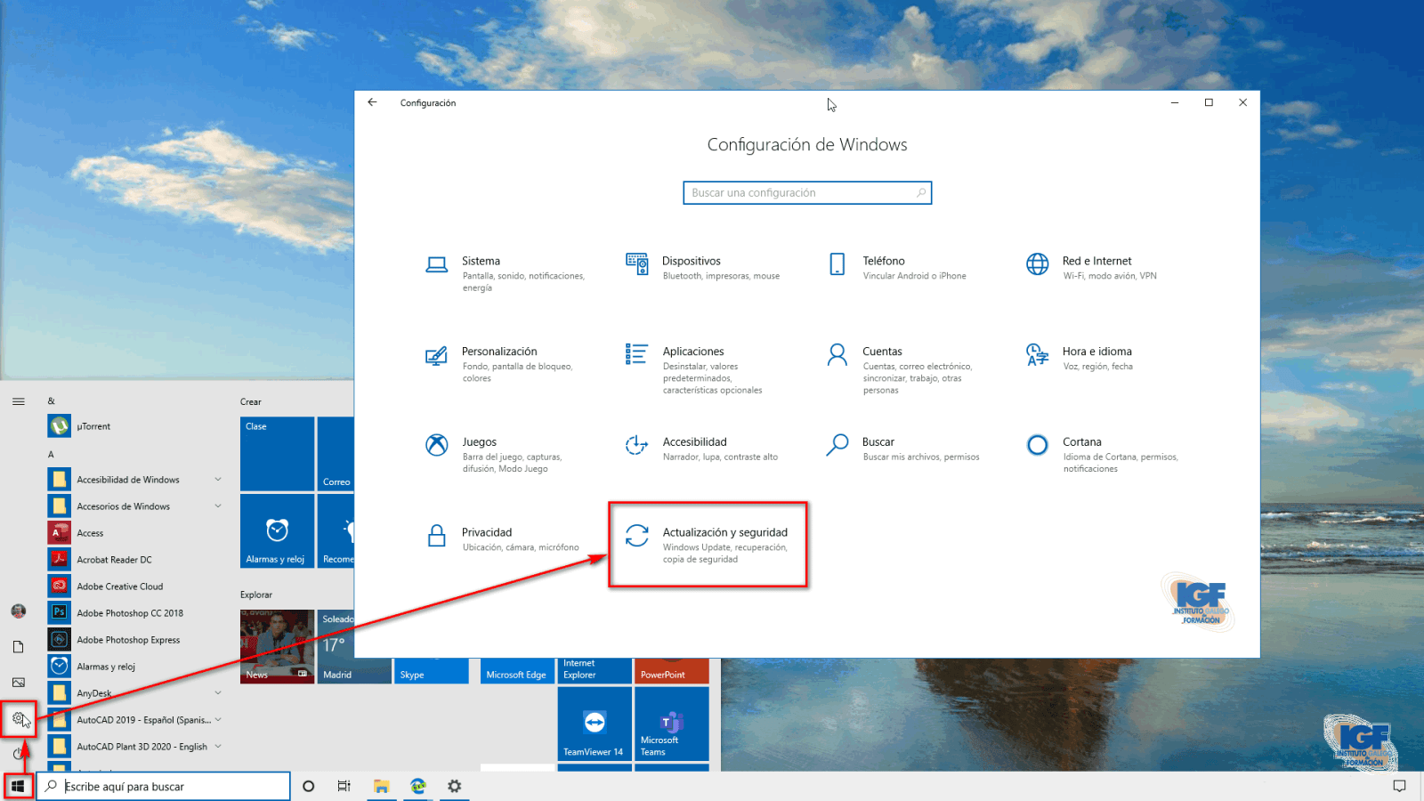 Configurar las actualizaciones de Windows 10 Actualización y seguridad - igf.es
