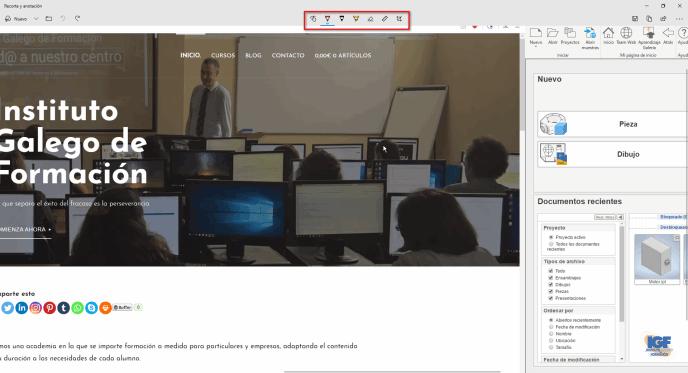Recorte y animación en Windows 10 herramientas - igf.es