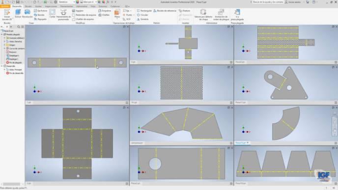 Chapa metálica Autodesk inventor - igf.es