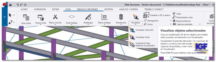 Crear renderizados 3D en Tekla Structures - igf.es