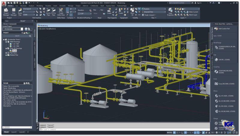 Curso online de AutoCAD Plant 3D