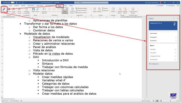Editor de Microsoft Word - igf.es