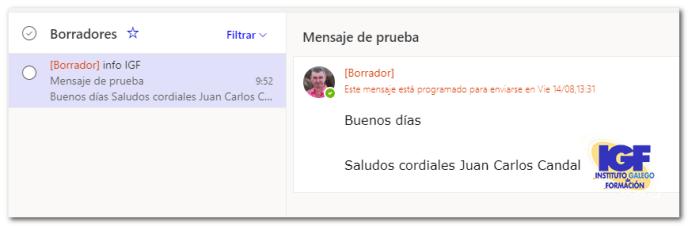 programado para enviar más tarde - igf.es