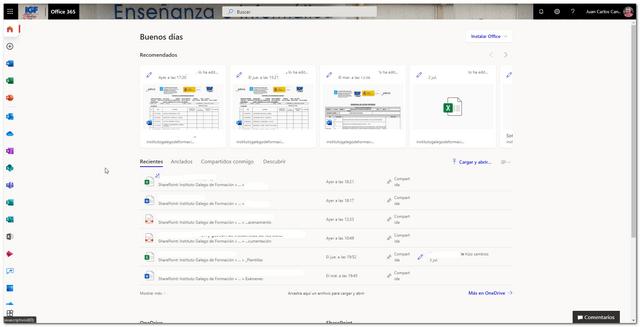 Pagina inicio de Office 365 - igf.es