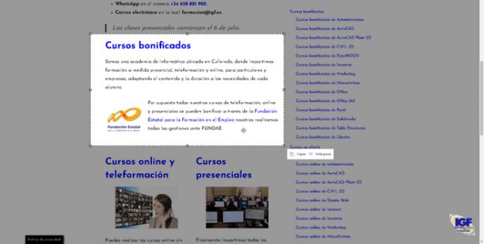 Novedades Edge Chromium Captura Web - igf.es