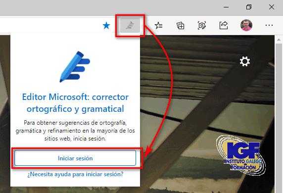 iniciar sesión Editor Microsoft - igf.es