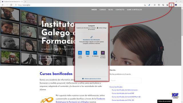Compartir información con Edge - igf.es