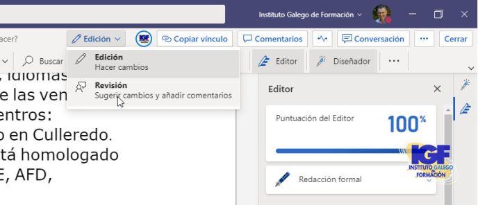 Revisión de cambios - igf.es