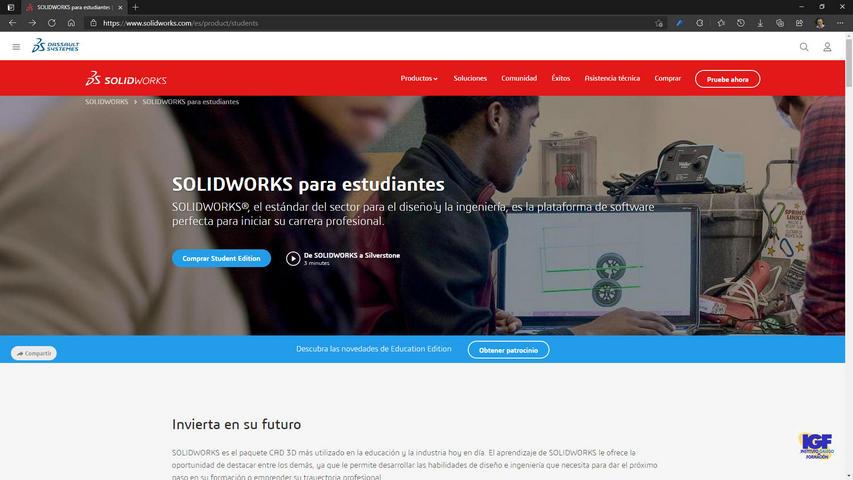 Descargar SolidWorks para estudiantes - igf.es