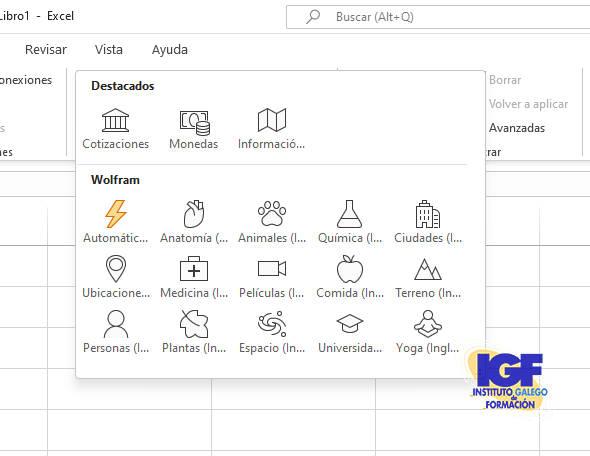 Datos vinculados en Excel - igf.es
