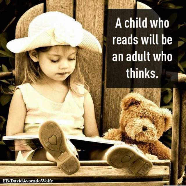 Kids need to read to think later in life.