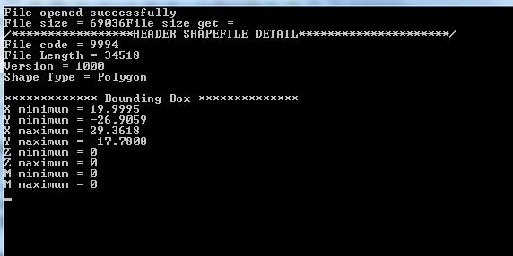 c++ program to read shapefile header