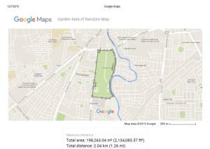 Print measure area in Google map
