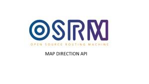 OSRM - Map Direction API