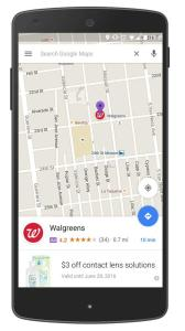 Google Map will soon show purple pin advertisment