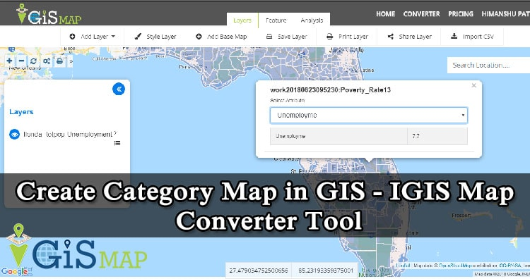 Create Category Map in GIS – IGIS Map Converter Tool