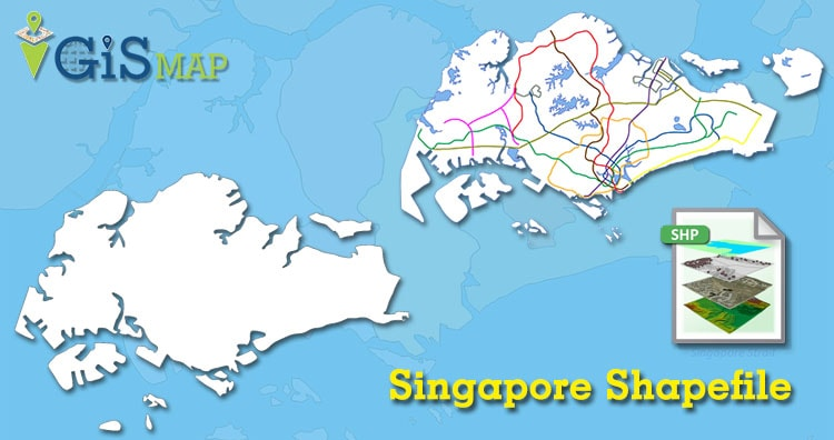Download Singapore Shapefile map free -Country boundary, Singapore KML, Geojson