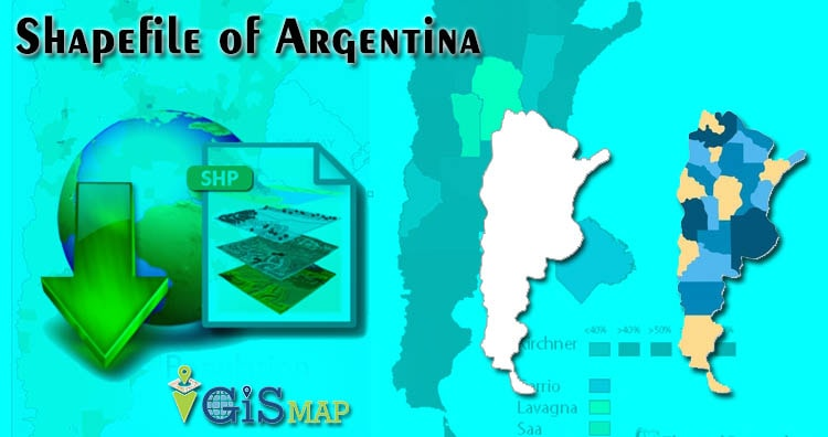 Argentina Shapefile Download free map – Country boundary line, Provinces Polygon Shapefile