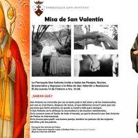Eucaristía, para las parejas, por el día de San Valentín
