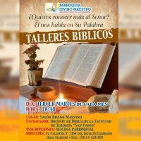 Talleres Bíblicos en la Parroquia Divino Maestro