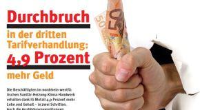 Mehr Geld im Sanitär-Heizung-Klima-Handwerk