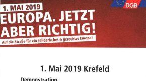 Einladung zur Krefelder Mai-Kundgebung — EUROPA. JETZT ABER RICHTIG!
