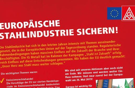 Europawahl – Europäische Stahlindustrie sichern!