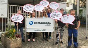 Der Kampf um die Arbeitsplätze im Krefelder Werk der Ormazabal Anlagentechnik GmbH geht los!
