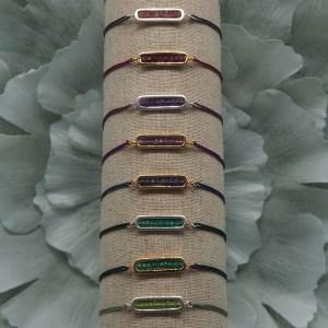 Bracelet cordon de soie Théa