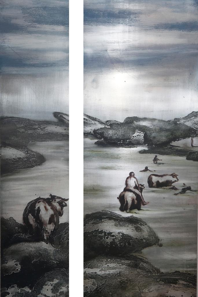 Vacas. Nadadores
