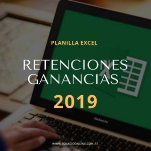 Planilla excel cálculo retenciones Ganancias 2019