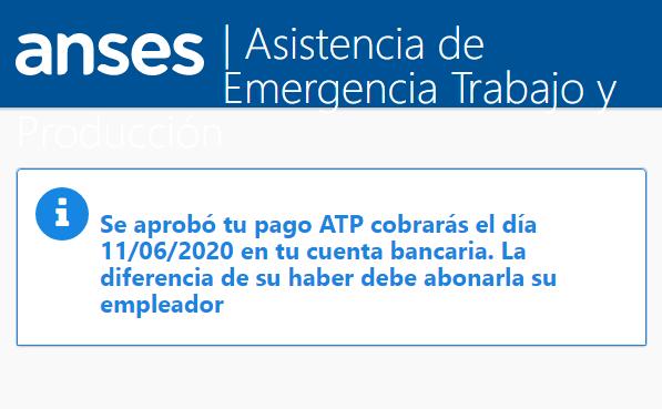 Pago ATP Salario Complementario Mayo 2020 ATP