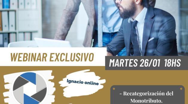 webinar bot balance monotributo recategorización Ignacio online contadores en red