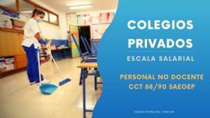 Colegios Privados Escala salarial Personal no docente