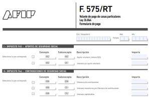 Formulario 575 RT Servicio Doméstico