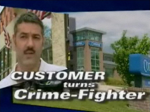 Customer Stopped Bank Robbery