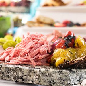 Antipasto tray prepared by Ignatius House chefs and Kitchen Cura interns.