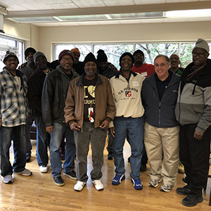 Men on an Ignatian Spirituality Project retreat at Ignatius House.