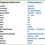 Classroom Student Actions